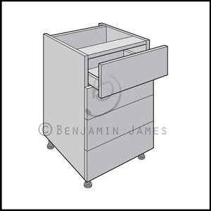 Kitchen carcass unit drawer type b cabinet standard for Kitchen cupboard carcasses 600mm