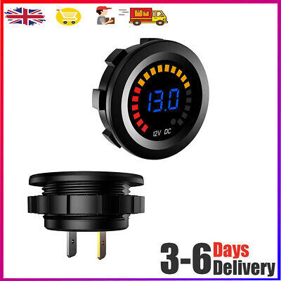 12V LED Car Van Boat Marine Voltmeter Voltage Meter Battery Gauge Volt Meters