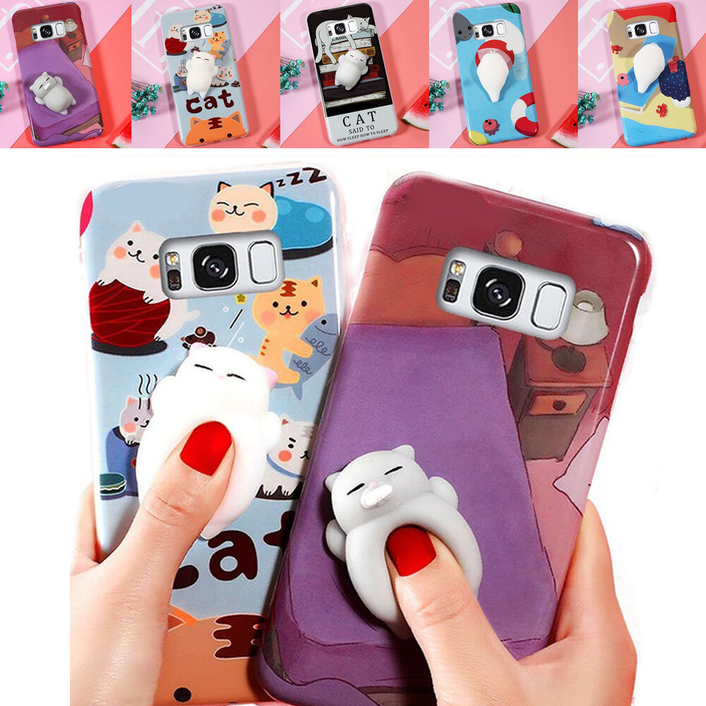 new concept 0a33d 4f32f Details about Healing Stress Reduce Soft Cat Squishy Case For Samsung  Galaxy S8/7/6 Note8 A3/5