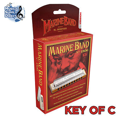 Hohner Marine Band Harmonica 1896BX-C Key of C NEW Free US Shipping on Rummage