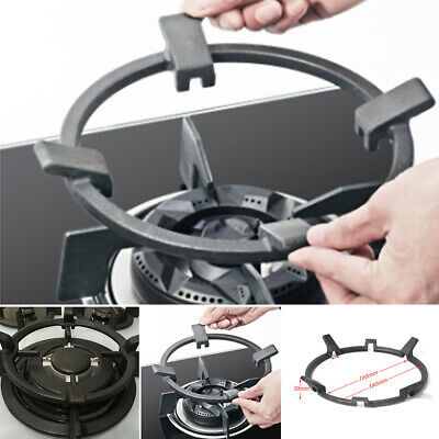 Hot Cast Iron Wok Pan Support Rack Stand For Burners Gas Hobs Top Black Use
