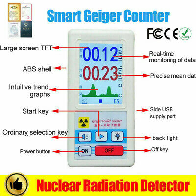 Geiger Counter Beta Gamma X-ray Nuclear Radiation Tube Dosimeter Detector