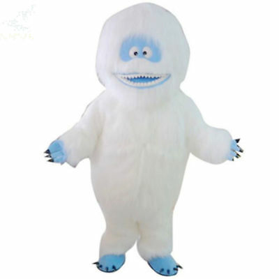 Hot Adult Deluxe EVA Yeti Abominable Snowman Mascot Costume Halloween Party Suit (Abominable Snowman Adult Costume)