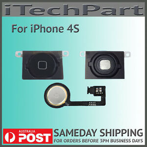 Black Home Button Gasket with Flex Cable Replacement Part For iPhone 4S