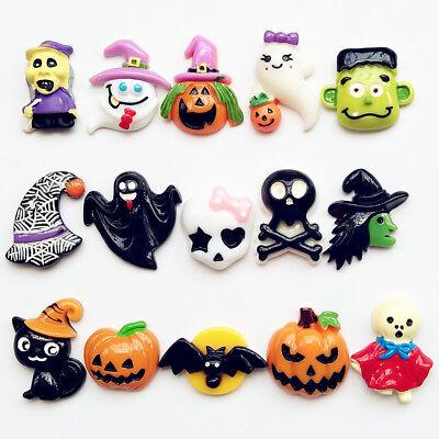 Halloween Pumpkin Ghost Resin Flatback Button Scrapbook Diy Craft Phonecover](Diy Halloween Pumpkins)