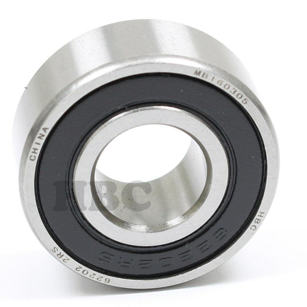Radial Ball Bearing HBC 6307-2RSNR  2 Rubber Seals /& Retaing Ring 35x80x21mm