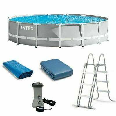 NEW Intex 26719EH 14ft x 42in Prism Frame Swimming Pool w/ Pump + Ladder + Cover
