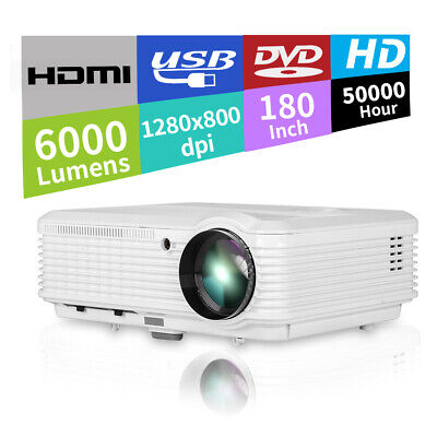 Beamer LCD HD Video Projector Home Cinema Party Sports Game HDMI TV Smartphone