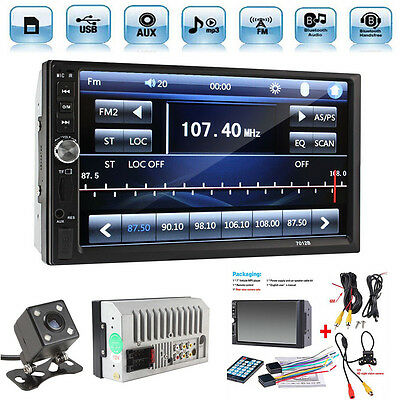 2 Din 7  Touch Screen Fm Bluetooth Radio Audio Stereo Car Video Player Hd Camera