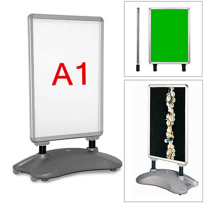 A1 A-BOARD WATER BASED PAVEMENT POSTER SIGN HOLDER SNAP FRAME SHOP DISPLAY STAND
