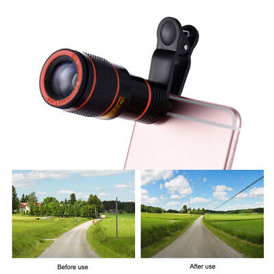 12X Zoom Mobile Telephoto Lens Phone Clip Telescope Camera for iPhone IOS G1M0
