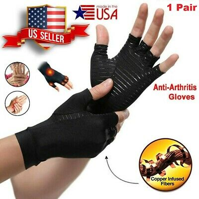 Best Copper Compression Gloves Arthritis Carpal Tunnel Hand Wrist Brace Support