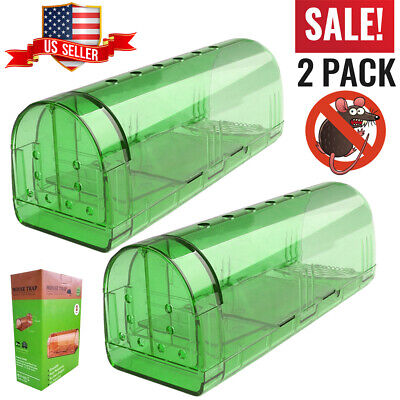 Humane Mouse Trap 2x - No Kill Safe Mouse Traps Catch & Release Live Rodent