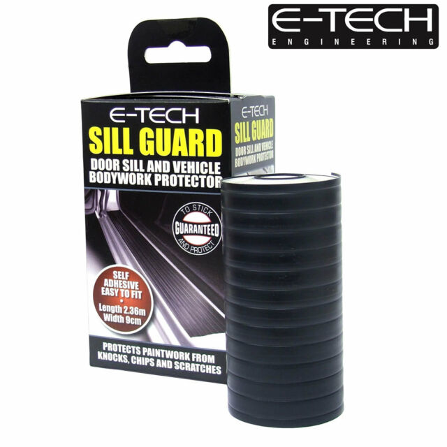E-Tech Black Car Door Sill Bumper Bodywork Scuff Protector Guard