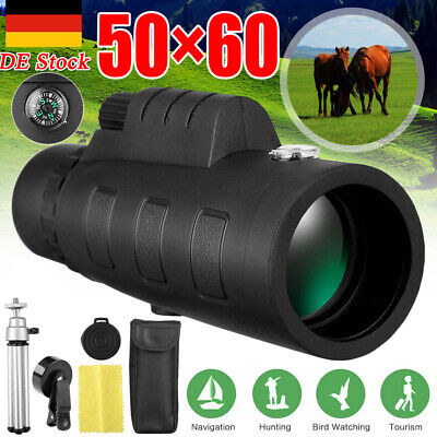 50X60 Tag & Nachtsicht Dual Focus HD-Optik-Zoom-Monokularteleskop HD Fernglas DE