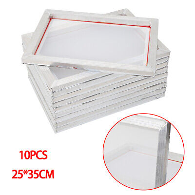 10 Pack Silk Screen Printing Aluminum Screens Frame Kit Printing Machine 110mesh