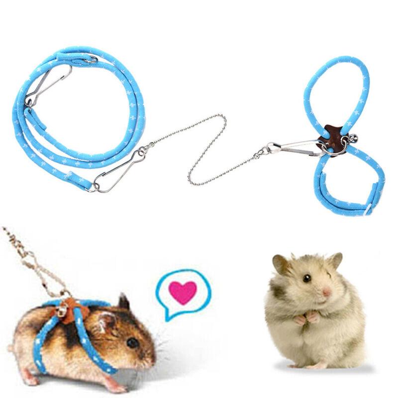 Rosa Beito Pet Rat Mouse Leash Arn/és de Cables Ajustable Cuerda Ajustable 83 CM 1 PC