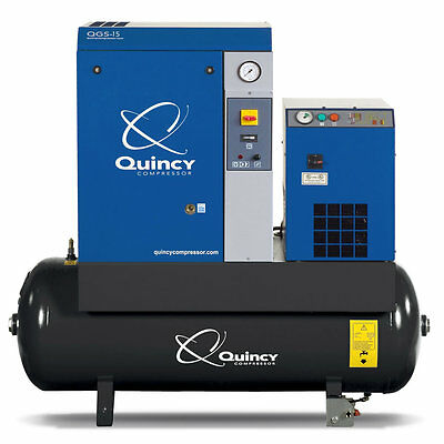 Quincy QGS 15-HP 120-Gallon Rotary Screw Compressor w/ Dryer