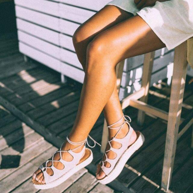 BRAND NEW Alohas Sandals | Gladiator Stone Espadrilles