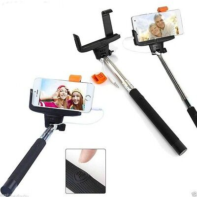 Monopod Selfie Stick Telescopic Wired Remote Mobile Phone holder For Huawei New