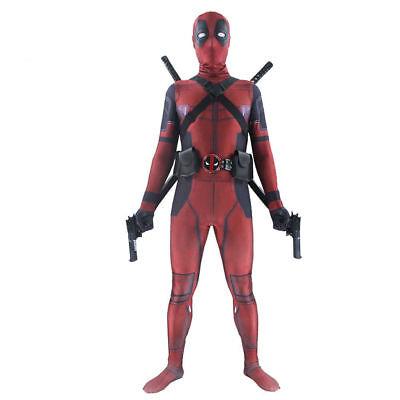 Deadpool Kostüm Kinder Teenager Damen Herren Superhero Superheld - Anti Hero Kostüm