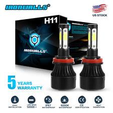 4-sides H11 H8 H9 1700W 255000LM COB LED Headlight Bulb Conversion fog light HID