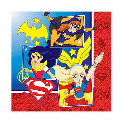 �dchen Party Servietten Wonder Woman Supergirl Batgirl (Superheld-mädchen-party)
