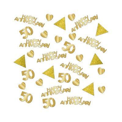 Dorado Mesa Boda Confeti 50th Aniversario Decoración Mesa Extra Grande Bolsa