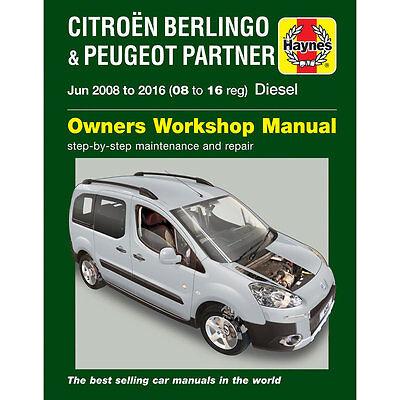 Peugeot Partner Teepee and Van B9 II 1.6 Diesel Jun 2008-16 Haynes Manual