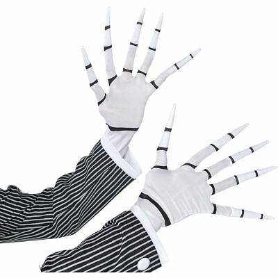The Nightmare Before Christmas Jack Skellington Adult Gloves Costume Accessory (The Nightmare Before Christmas Costume)