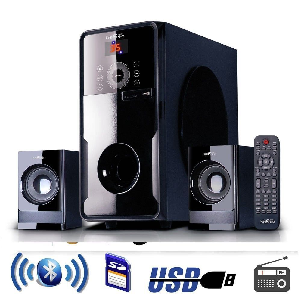 Befree Sound 2.1 Channel Surround Sound Bluetooth Speaker System Usbsdfm Radio