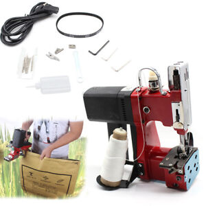 Industrial Portable Electric Bag Stitching Closer Seal Sewing Machine 110V RED