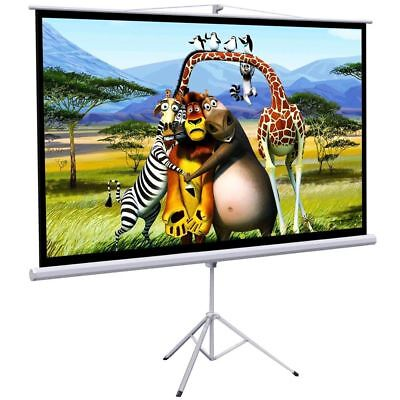 New Portable 100 Projector 169 Projection Screen Tripod Pull-up Matte -white