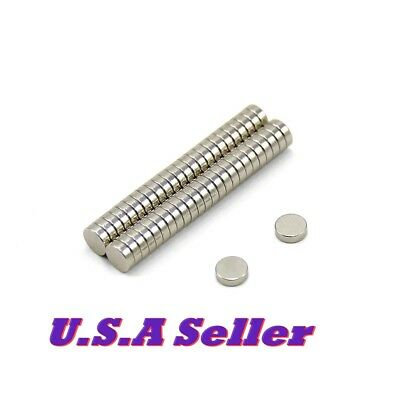 50pcs 5mm X 2mm Strong Round Disc Rare Earth Neodymium Magnets U.s Shipped N35