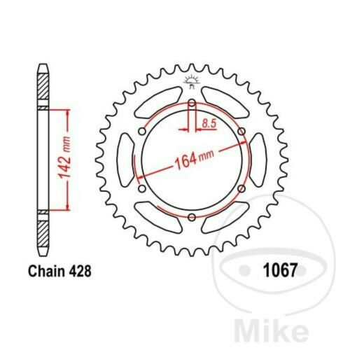 Chain RK 428SB Sprocket 14 Sprocket 52 Res Hyosung 125 Gt