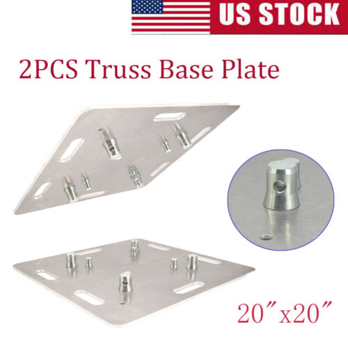 """2 PCS Lighting Trussing Base Plate 20""""x20"""" Square Fits F"""