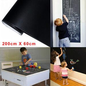 2Mx0.6M Removable Blackboard Vinyl Sticker Chalkboard Decal Peel & Stick on Wall
