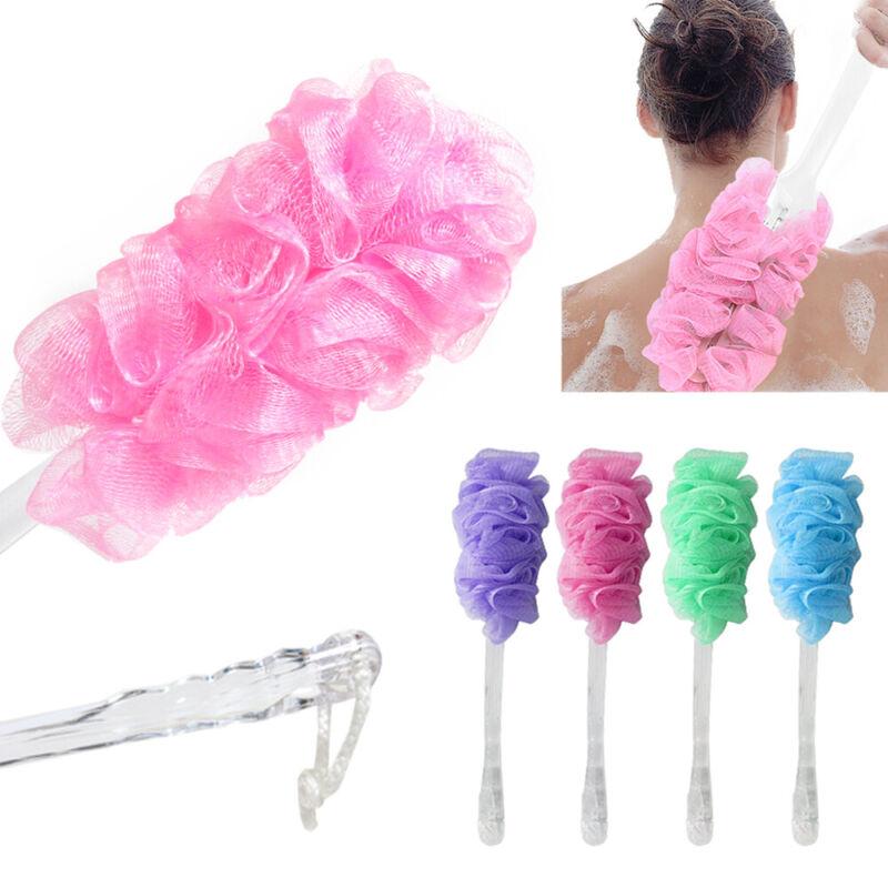 Bath Loofah Sponge Long Handle Back Scrubber Shower Body Exfoliating Soft Brush