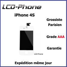 Ecran iPhone 4S Blanc LCD + Vitre Tactile Sur Chassis - Grade AAA