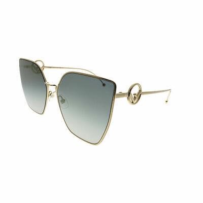 F Ist Fendi Ff 0323/S FT3 FQ Grau Gold Katzenaugen Sonnenbrille Gradient Linse
