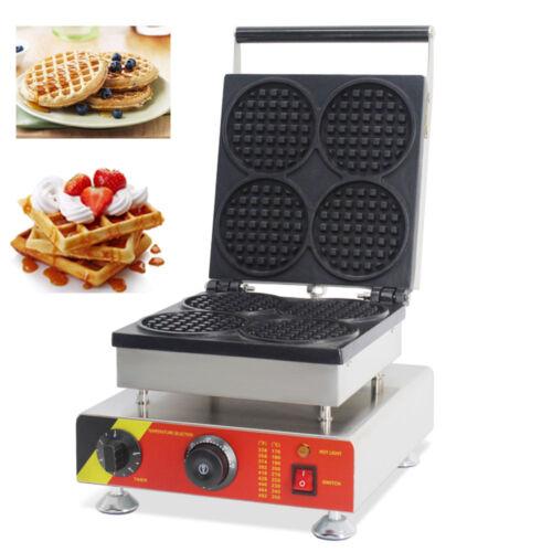 Commercial Nonstick Electric Belgian Liege Waffle Maker Iron Baker Machine Mold