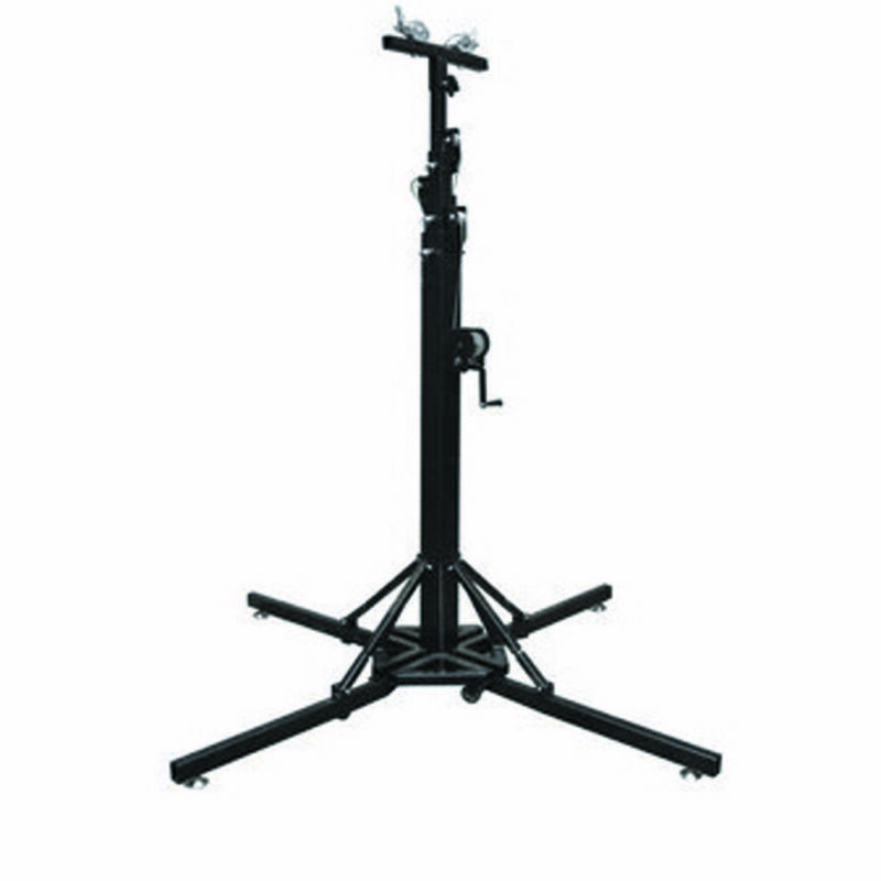 1 PC 19Ft Heavy Duty Tower Lifter Crank Lighting DJ Concert Stand W/Outriggers