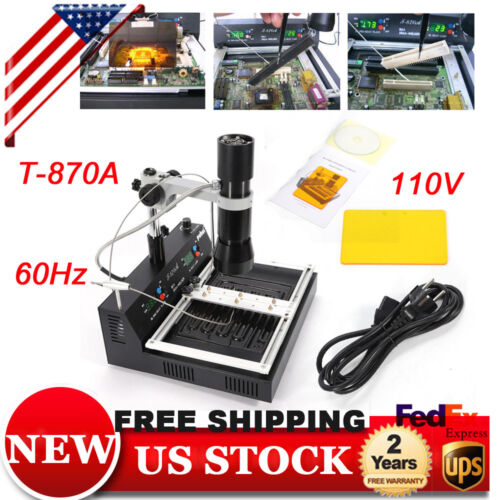 T870A BGA IR IRDA Infrared Rework Station SMD SMT Soldering Desoldering xbox US