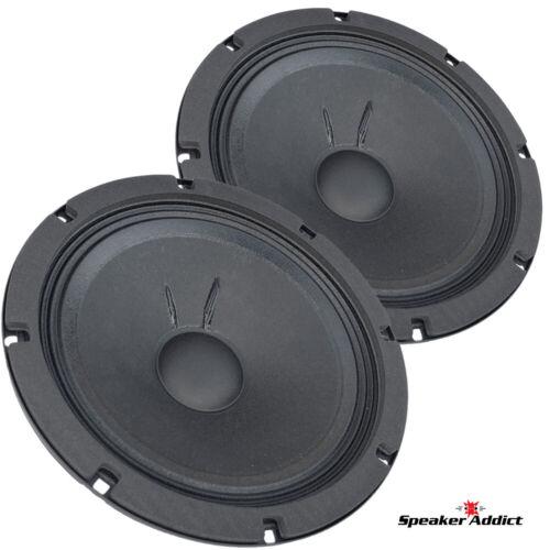 "Pair Faital Pro 8FE200 8ohm 8"" Woofer Midrange Midbass Replacement speaker 95dB"