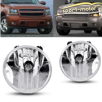 Used, for 2007-2013 Chevy Suburban Tahoe Avalanche Replacement Clear Fog Lights+Bulbs for sale  USA