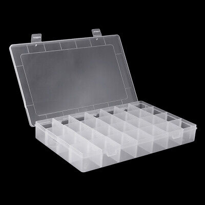 28 Grid Adjustable Electronic Components Project Storage Assortment Box Bead Org