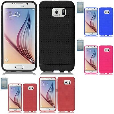 Купить HR Wireless Rugged Silicone - For Samsung Galaxy S6 Rugged Thick Silicone Grip Soft Skin Case Cover