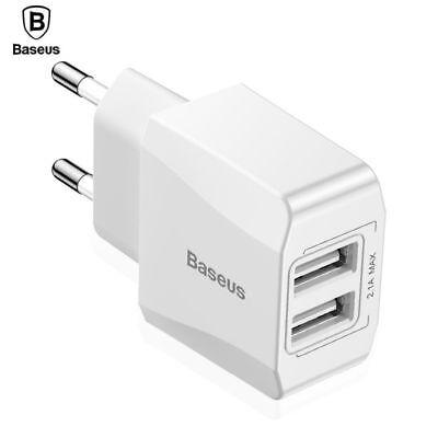 Original Baseus 2.1A Max Quick Charge Mini Dual-U Fast EU Universal Ladegerät  2.1 A Mini