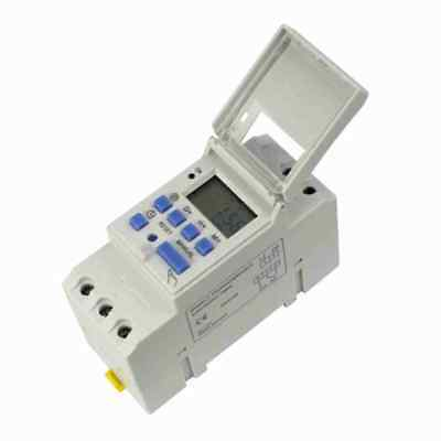 Din Rail Digital Lcd Power Programmable Timer Dc 12v 16a Time Relay Switch Sj