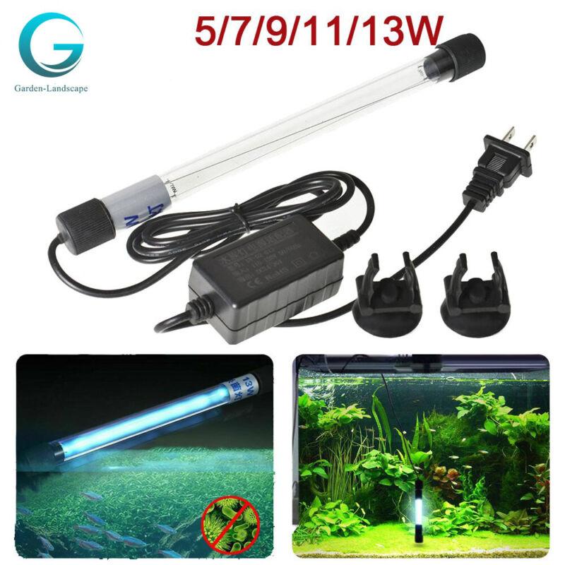 Aquarium Submersible UV Light Sterilizer Pond Germicidal Clean Fish Tank Lamp
